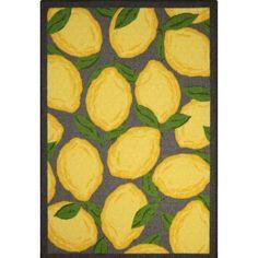 Threshold Lemons Kitchen Rug - Gray/Yellow | kitchen in ...