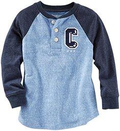 OshKosh B'gosh Little Boys' Henley (Toddler/Kid) - Blue - 3T OshKosh B'Gosh http://www.amazon.com/dp/B010MR0YW4/ref=cm_sw_r_pi_dp_gFImwb026MMYJ