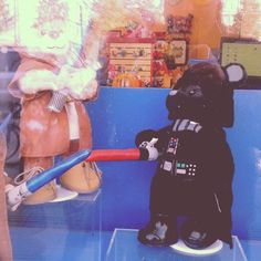 Darth Teddy fighting the Jedi scum...