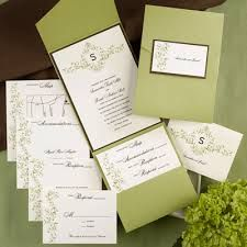 elegant pocket wedding invitations - Google Search