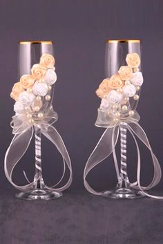 Wedding Glasses Décor Ideas To Impress You ❤ See more: http://www.weddingforward.com/wedding-glasses/ #weddings