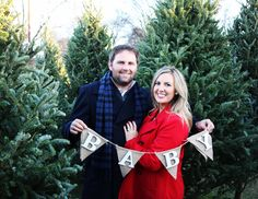 baby announcement, pregnancy announcement, pregnant, baby, Christmas card, tree farm