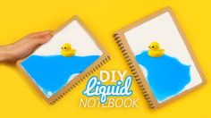 Open me and watch me in HD! Hello guys! For today's video I have an amazing project: a DIY Liquid Notebook!! I hope you like it :) Materials: - Notebook - 2 ...