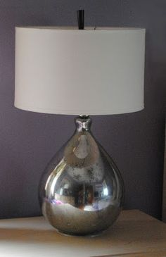 Pottery Barn Knock Off - Mercury Glass Lamps by One Day at a Time What a…