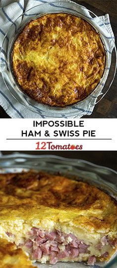 Impossible Ham And Swiss Pie