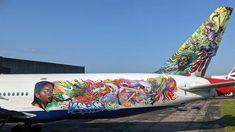 Plane Reclaimers: Spirit warrior for the spirit of (commercial) aircraft #aircraft #streetart #graffiti #urbanart #wallart #planereclaimers #jimvision