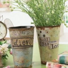 Antique buckets - endless possibilities!