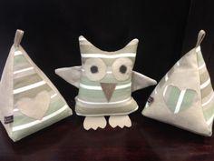 Pyramid and Owl Door stops