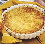 """This classic French regional tart of good Gruyère and """"melted ..."""