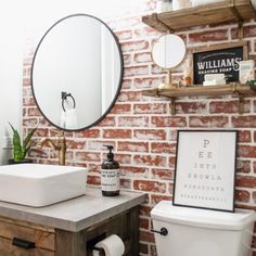 New clothes rack ikea bathroom ideas Diy Clothes Rack, Diy Bathroom, Cheap Decor, Wall Mounted Clothing Rack, Diy Window, Diy Faux Brick Wall, Bathroom Decor, Bricks Diy, Diy Wall