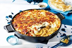 Butter Chicken Moussaka: With moussaka, it's the idea that it's warming, it makes you feel fantastic. It's not fine dining; it just really hits the soul, says George. Butter Chicken Sauce, Moussaka Recipe, Musaka, Marinated Chicken, Just Cooking, Greek Recipes, Gourmet Recipes, Yummy Recipes, Dinner Recipes