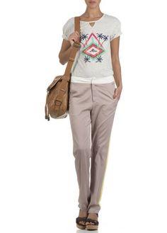 Tee-shirt sérigraphié  Light Grey Melange by LE MONT SAINT MICHEL