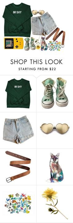 """no one's gonna stick the pieces together for you"" by accio-steph-maybe-youll-find-her ❤ liked on Polyvore featuring Converse, American Apparel, Wildfox and Dot & Bo"