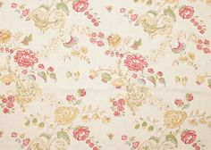 """Pattern: Bouquet Style No: B-8018 Color: Yellow Content: 100% Irish Linen Width: 52.5"""" Repeat: 12.5"""" H / 14.5"""" V B8006 order"""