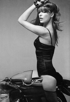 Milla Jovovich on  Vintage Triumph!