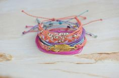 Pop of Pink and Gold Bracelets - Perfect for Summer
