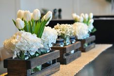 Mason Jar Centerpiece Rustic Wedding by CountryByTheBumpkins