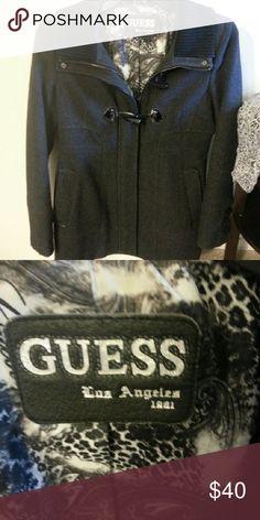 Guess woolen coat Guess size medium wool coat Jackets & Coats Pea Coats
