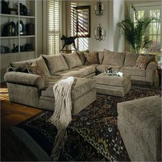 Coaster Westwood Hardwood Chenille Pillow Top Sectional Sofa in Olive Green - contemporary - sofas - vancouver - Cymax