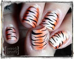 """Find your inner """"tiger"""" with these fierce nails! #manimonday"""