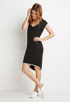 Contemporary Contrast-Trimmed Dress | Forever 21 - 2000141473