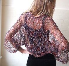 Harlequin firefly evening shrug in red pink gold  and by ileaiye,