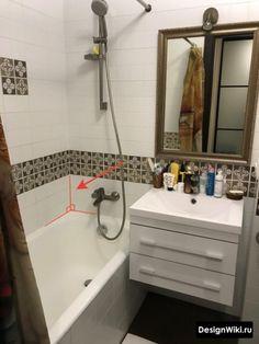 Дизайн Ванной в Хрущевке: 79 реальных фото и 7 правил ремонта Space Saving Bathroom, Vanity, Furniture, Bathroom Ideas, Home Decor, Vanity Area, Homemade Home Decor, Lowboy, Dressing Tables