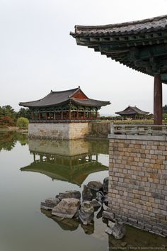 Anapji, or Anap Pond is an artificial pond in Gyeongju National Park, South Korea With love, BakSaks.com