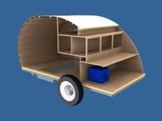 teardrop trailers | Great view of cabin and kitchen cabinets.