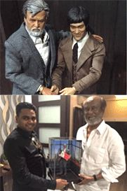 Rajinikanth Kabali meets Bruce Lee