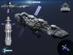 Khan class spacecraft, one of the last reminders of an obsolete technological epoch, but still in use by separatist groups and pirates. This is our second planned DLC and we're really excited to have it included in the gameplay before long. #gamedev #indiedev #html5games #indiegames #gamedesign #2d #3d #conceptart