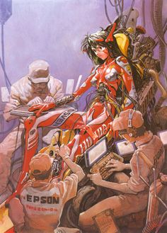 One Illustration by Yoshiyuki Sadamoto from his art book Der Mond. Concept art for Neon Genesis Evangelion.