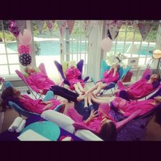 spa party for girls - Yahoo Image Search Results Birthday Table, Girl Birthday, Birthday Parties, Spa Party Cakes, Girl Spa Party, Pamper Party, Pajama Party, Girl Day, Spa Day