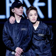 151212 Xiumin and Chen at EXO'luXion in Nanjing ❤ minseok became a kid again with his new haircut kyaa
