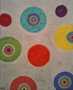 Colourful circles / 65 cm x 81 cm