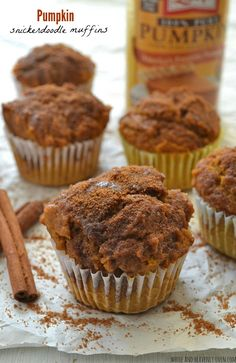 Love pumpkin muffins AND snickerdoodle cookies? Now you can have them BOTH in one gorgeous muffin! @WholeHeavenly