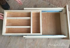 Kitchen Drawer Organizer - Adding a Double Drawer to Existing Cabinet (Ana White) Kitchen Cabinet Drawers, Kitchen Drawer Organization, Kitchen Storage, Diy Drawer Organizer, Cabinet Plans, Kitchen Cupboard, Organization Ideas, Ana White, Cuisines Diy