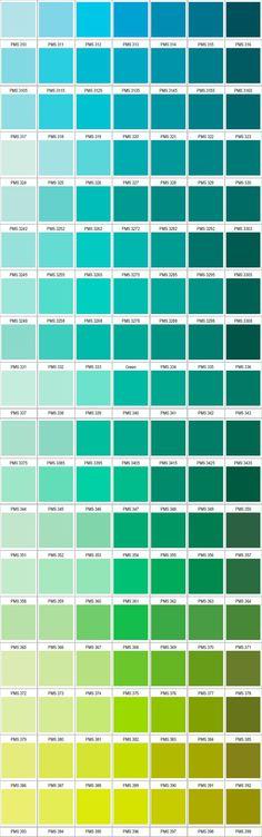 Paleta de verdes Pantone 2