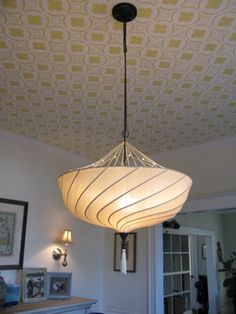 My new Moroccan dining room ceiling!