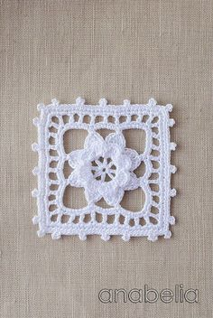 Crochet lace motif nr 5 by Anabelia