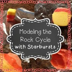 This activity is a perfect follow up for a middle school class who has just been introduced to the rock cycle.  You will need starbursts (or other fruit chews of multiple colors) and plastic sandwich bags.  Students begin with 'sediments' which they turn into a sedimentary rock, apply heat and pressure to turn it into a metamorphic rock, and then you (the teacher) will need to take them home to turn them into igneous rocks.