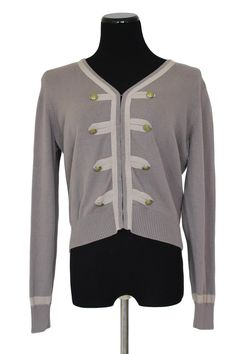 CAbi 281 Corporal Cardigan Military Womens Taupe Size L