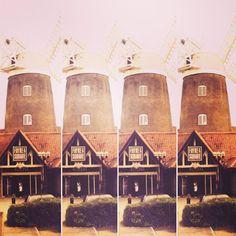 The Windmill pub and hotel at Caldecotte Lake  #urban #urbanlife #urbanlandscape #windmill #britishpub #englishpub #Caldecotte #miltonkeynes