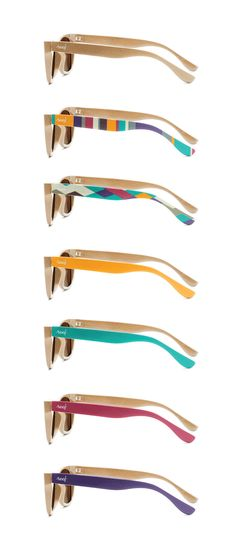 c8217771f8 Reef Eyewear brand design by Ross Burwell Wooden Sunglasses