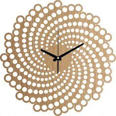 Horloge murale spirale horloge murale en bois Tenture