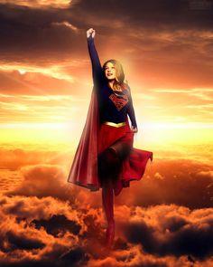 Melissa Benoist as Supergirl.