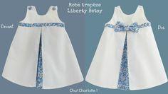 La robe trapèze Betsy - préparation cortège