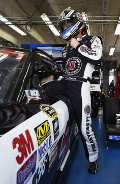 Kevin Harvick Photos Photos - Kevin Harvick, driver of the #4 Jimmy John's Chevrolet, climbs into his car during practice for the NASCAR Sprint Cup Series Coca-Cola 600 at Charlotte Motor Speedway on May 28, 2016 in Charlotte, North Carolina. - Charlotte Motor Speedway - Day 2