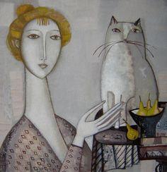 Tatyana Gorshunova Woman & cat