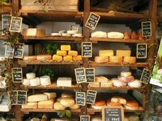 """Latin Quarter in Paris. """"The Latin Quarter is the heart of medieval Paris where artisan chefs perpetuate the traditional cooking skills which have made French gastronomy so famous. Deli Shop, Cheese Store, Cheese Display, Fromage Cheese, Boutique Deco, Artisan Cheese, Best Cheese, Farm Shop, Cheese Lover"""
